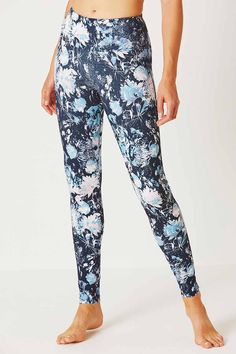 0b005425db Enduro Deep Waistband 3/4 Bamboo Leggings - Kerala Batik Print in ...
