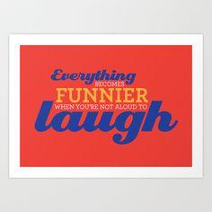 Laugh Art Print by lilemsy - $17.00