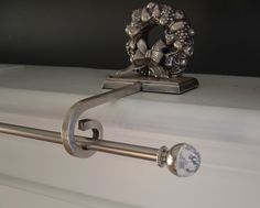 Christmas stocking holders - suspend a standard curtain rod for hanging multiple stockings.
