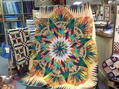 Prairie Star ~ Quiltworx.com, made by Tricia Deal in a workshop with Certified Instructor, Fran Sargent!