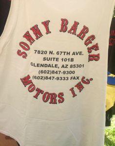 Sonny Barger Motors Inc AZ White. RARE! HELLS ANGELS