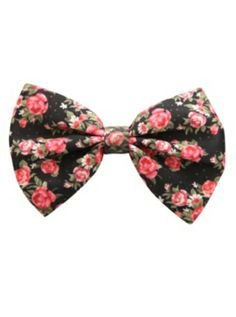 LOVEsick Floral Bow Hair Clip Hot Topic