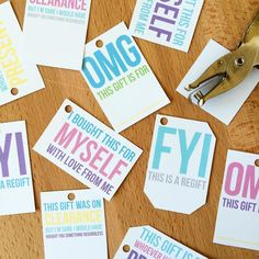 Just posted brand new printable snarky gift tags to the shop! Only $2.50 because duh printable. Had a bunch of fun making these  would love to see some of them in action come holiday gift giving time!   PS! Maybe you want these for free? And other free things  exclusive sales? Head over to saradoes.com/thelist to join The List! I'm sending these out to List members pretty soon  by thesnarkshop