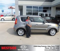 #HappyAnniversary to Renee Newton on your 2013 #Kia #Soul from Everyone at Westside Kia!