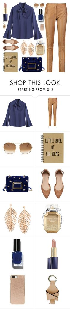 """""""Blue and brown"""" by deeyanago ❤ liked on Polyvore featuring Roberto Cavalli, Chloé, Witchery, Victoria's Secret, Bobbi Brown Cosmetics, Estée Lauder, Kate Spade and TIBI"""