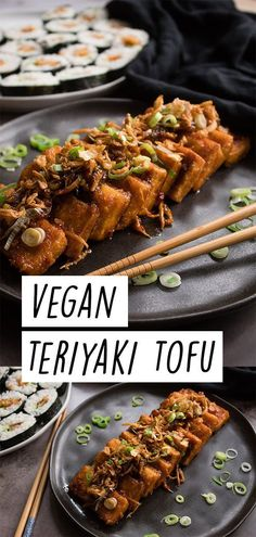 This is my vegan teriyaki tofu recipe. It's one of my favourite tofu dishes. It's absolutely delicious! Vegan Lunch Recipes, Delicious Vegan Recipes, Healthy Recipes, Vegetarian Asian Recipes, Tempeh Recipes Vegan, Tofu Dishes, Vegan Main Dishes, Teriyaki Tofu, Clean Eating Snacks