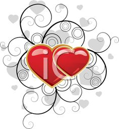 Valentine's Clipart - Intertwined Hearts