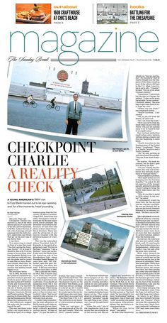 The Virginian-Pilot's Sunday Magazine front page for Sunday, Nov. 15, 2015.