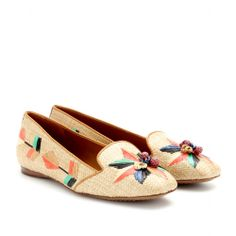 mytheresa.com - Geraldine raffia slippers - loafers & moccasins - shoes - Luxury Fashion for Women / Designer clothing, shoes, bags