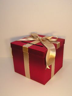 Red+and+Champagne+Wedding+Card+Box+Gift+Card+Box+by+bwithustudio,+$60.00