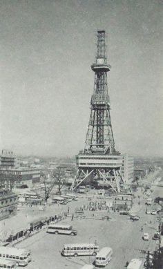 TV tower テレビ塔 - Sapporo 札幌,, Japan - 1962 Nippon-Graph