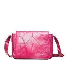 8a1cfb67c bolsa de couro pequena ana magenta rosa pink lepreri - small or medium  leather handbag made in brasil