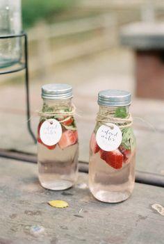 Strawberry mint water: http://www.stylemepretty.com/living/2015/07/08/organic-countryside-garden-first-birthday-party/ | Photography: Khanh Hogland - http://khanhhogland.com/