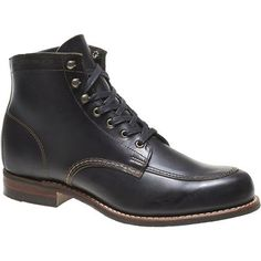 Mens leather boot, men ankle high boot,men black leather boot
