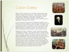 Dailey Family Tree - page 6  Colvin Dailey Life in the late 1700's