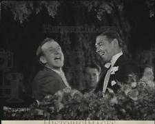 1932 Press Photo Jimmy Durante & Clark Gable at  Strange Interlude premiere