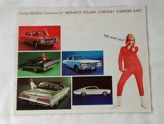 Vintage 1967 Dodge Monaco Polara Coronet Charger Dart Brochure, Car, Advertising, Auto, Dealer, Sales