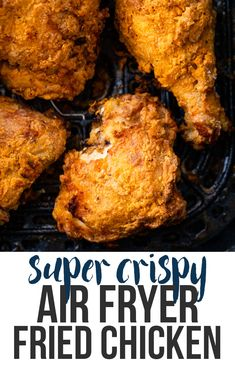 Best air fryer chicken wings you need to try as part of your weight loss goals. Air fryer recips are one of the best ways to start a healthy diet. Air Fryer Fried Chicken, Making Fried Chicken, Air Fried Food, Fried Chicken Recipes, Air Fryer Recipes Chicken Thighs, Air Fryer Chicken Tenders, Air Fryer Chicken Wings, Recipes With Chicken Drumsticks, Pressure Cooker Fried Chicken