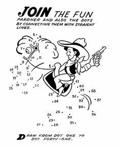 Dot-to-Dot Activity Page | cowboy