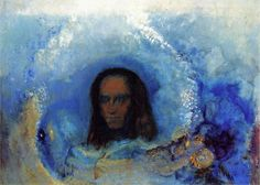 Odilon Redon (French: 1840–1916), [Post-impressionism, Symbolism] Silence, 1911.