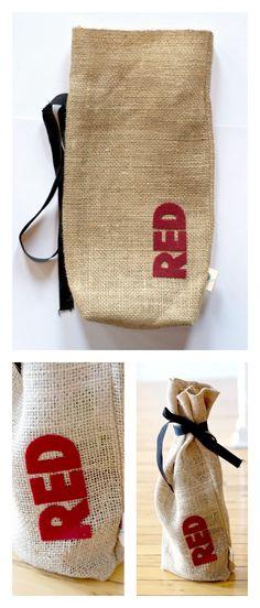Make your own wine bag! www.blitsycrafts.com