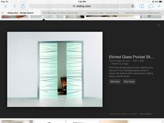 Etched glass for the hallway?