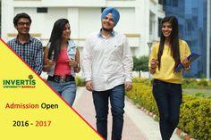 ADMISSION OPEN 2016-17 At Invertis University. #JoinInvertis #AdmissionOpen #BeInvertian
