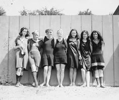 Bathing suits, 1920.
