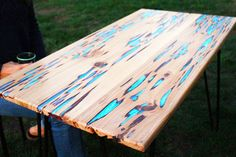 How To: Make A Stunning Wooden Table With Glow-in-the-dark Resin Infill