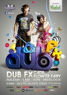 Dub FX poster by Razvan Coste, via Behance