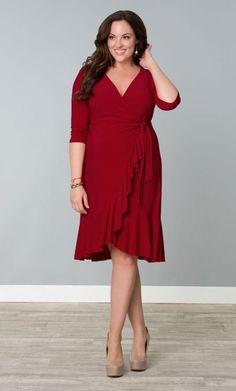 Whimsy Wrap Dress (Red-y for Love) from Stylish Plus Australia PTY LTD - Plus Size Clothing Sizes 10 to 36 Trendy Plus Size, Plus Size Women, Curvy Fashion, Plus Size Fashion, Style Fashion, Fashion Clothes, Plus Size Dresses, Plus Size Outfits, Dress Skirt