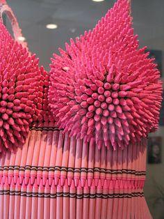 Pink Crayon Dress Closeup