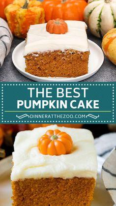 Spice Cake Recipes, Pumpkin Cake Recipes, Fall Dessert Recipes, Thanksgiving Desserts, Fall Desserts, Baking Recipes, Delicious Desserts, Pumpkin Frosting Recipe, Pumkin Cake