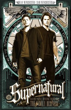 Supernatural Sam and Dean Winchester Poster Supernatural Series, Supernatural Poster, Supernatural Imagines, Supernatural Wallpaper, Supernatural Fandom, Castiel, Supernatural Tattoo, Supernatural Drawings, Supernatural Bloopers