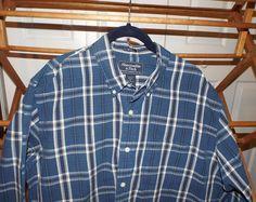 Mens Vintage Abercrombie Plaid Shirt Size XL