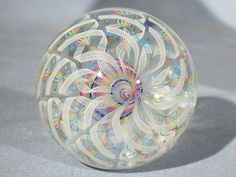 """Marbles: Hand Made Art Glass James Alloway Dichroic """"Space Cadet2"""""""
