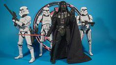 "Darth Vader & Stormtrooper, Black Series 6"""