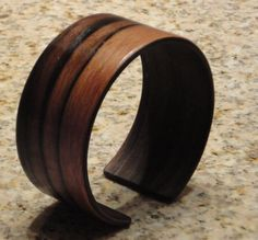 .Wooden Cuff Bracelet - Handcrafted in Macassar Ebony on Etsy by Timberforger $69