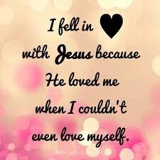 I fell in Love with Jesus cause of various Reasons. This is one of them. He loved us at First ! Is another Reason.  I and all don't deserve it. Is another Reason. Wow. And... cause : Jesus - how he is ! And what he did for me rescued Sinner. And all. And more Reasons.