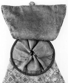 14th Century hip bag Historical  Costume Simple soft pouch with secret pocket