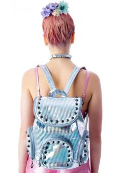 #DOLLSKILL #silver #backpack