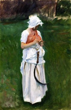 A Girl with a Sickle (also known as Sister)  John Singer Sargent
