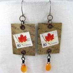 DIY Postage Stamp Jewelry