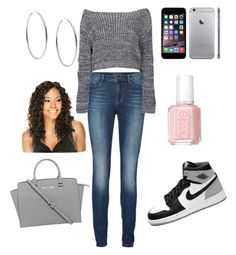 """""""gray guzurple"""" by my-savage-self ❤ liked on Polyvore featuring Lipsy, Boohoo, Retrò, Michael Kors, Essie, women's clothing, women, female, woman and misses"""