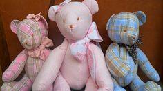 Pedacinhos de Mim: ursos de tecido, casinha de passarinho, almofada de coruja e cupcake de feltro