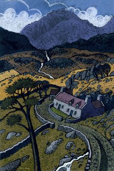Chris Neale Studio - signed limited edition art prints and original artwork Landscape Art, Landscape Paintings, Landscapes, Cottage Art, Naive Art, Print Artist, Painting Inspiration, Painting & Drawing, Illustration Art