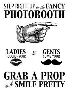 "I've been seeing a lot of ""photobooth"" stuff with the gatsby idea. Are you thinking about doing something like that? Photos Booth, Diy Photo Booth, Photo Props, Homemade Photo Booths, Photo Booth Signs, Photo Backdrops, Great Gatsby Party, Gatsby Theme, Gatsby Style"