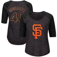 Madison Bumgarner San Francisco Giants Majestic Women's Plus Size Name & Number 3/4-Sleeve Raglan T-Shirt - Charcoal/Black - $39.99