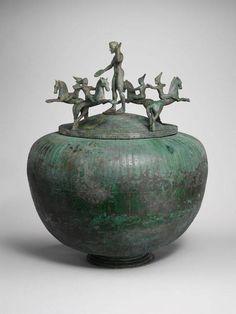 Bronze cinerary urn with lid Period. Archaic Date ca. 500 B.C. Etruscan Culture