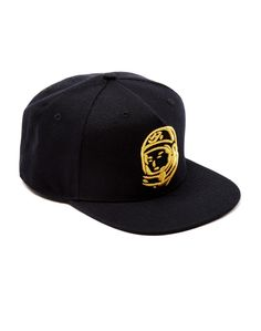 7e91a0bde4c Billionaire Boys Club Helmet Snapback Black Gold